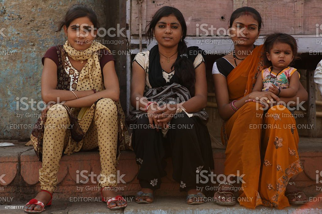 Young Indian girls stock photo