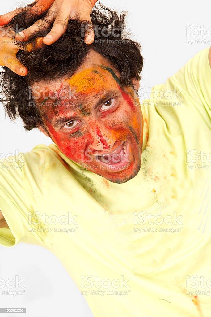young Indian guy having fun royalty-free stock photo