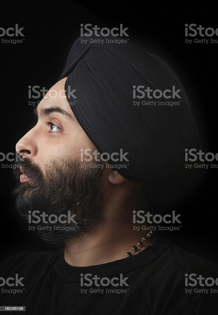 Young Indian Sikh profile royalty-free stock photo