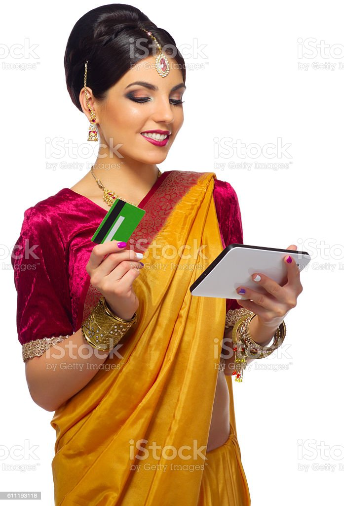 Young indian woman isolated stock photo