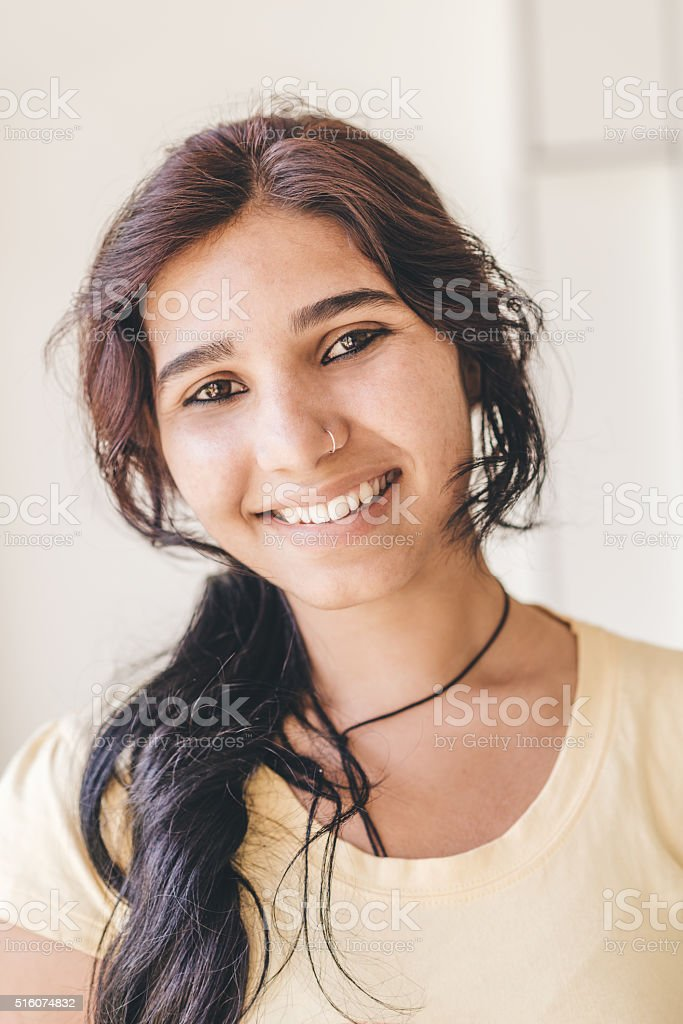 Young Indian woman Portrait stock photo