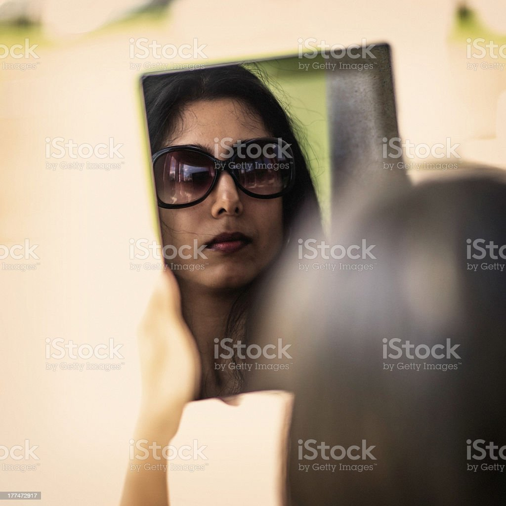 Young Indian Woman with Digital Tablet royalty-free stock photo