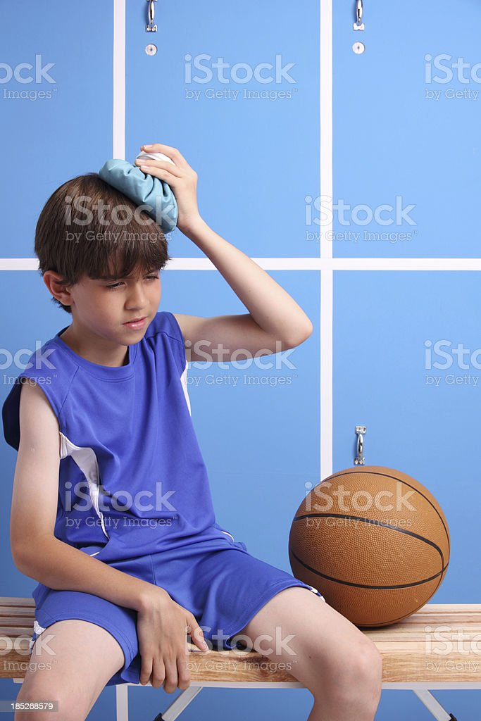 Young Injured Basketball Player stock photo