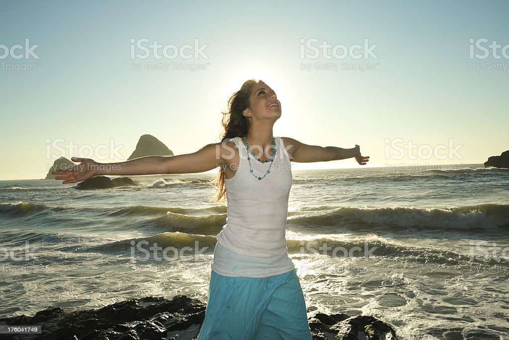 Young Inspired woman. royalty-free stock photo