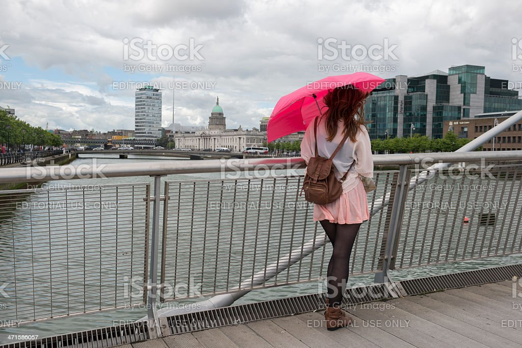 Young Irish woman in Dublin royalty-free stock photo