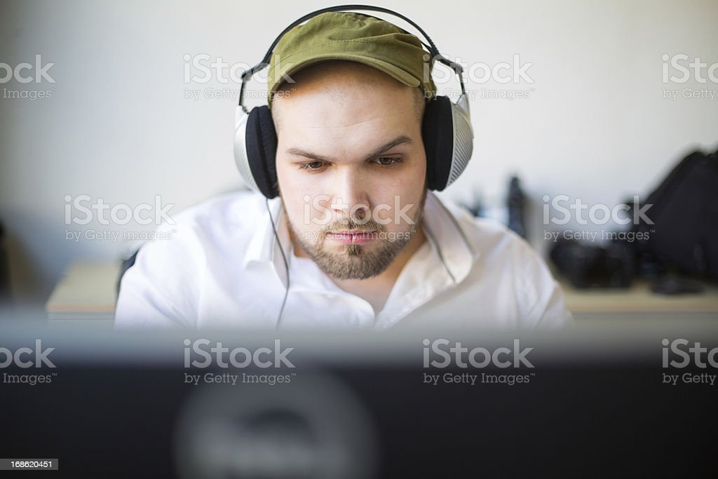Young IT specialist at a start up company royalty-free stock photo