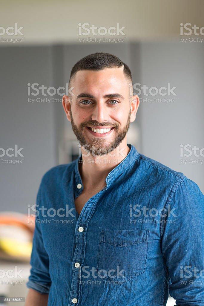 Young italian man portrait stock photo