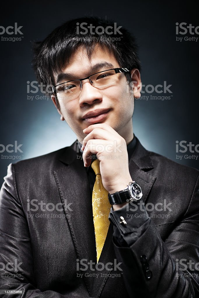 Young japan businessman portrait royalty-free stock photo