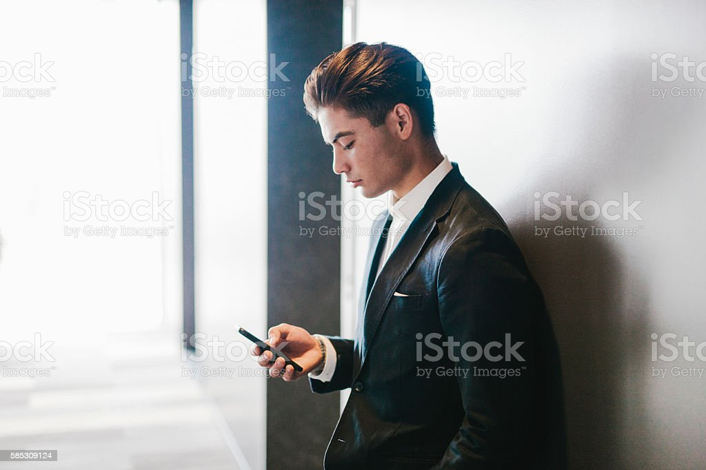 Young Japanese Businessman stock photo