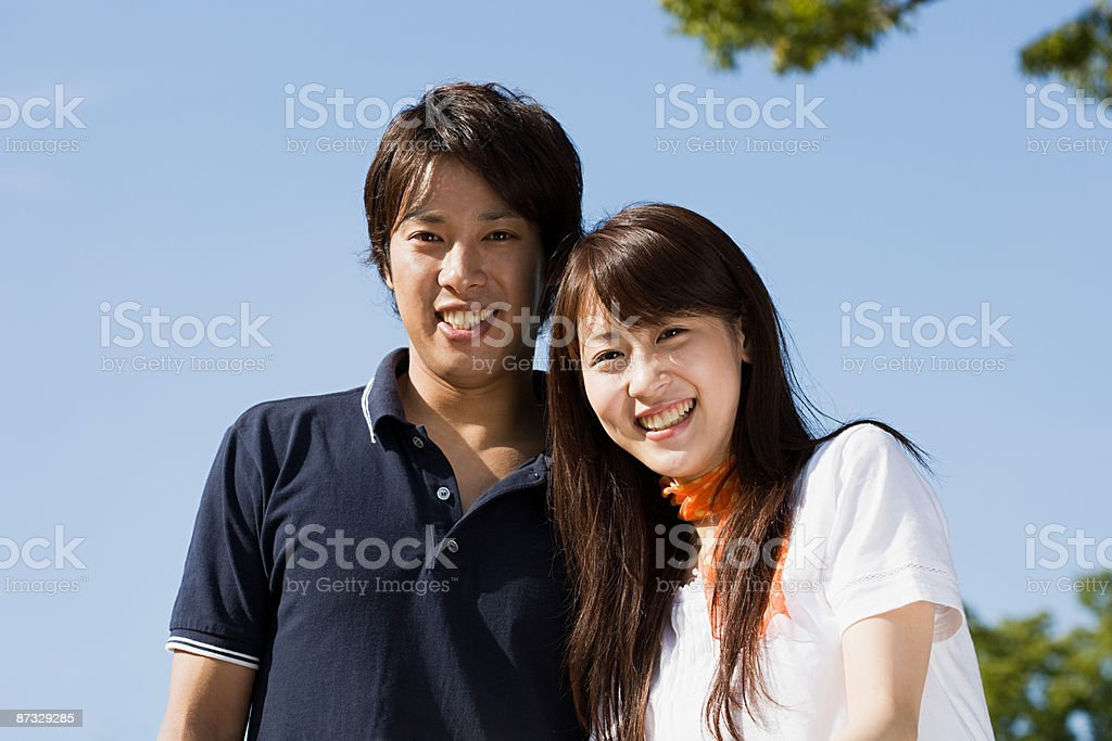 Young japanese couple stock photo