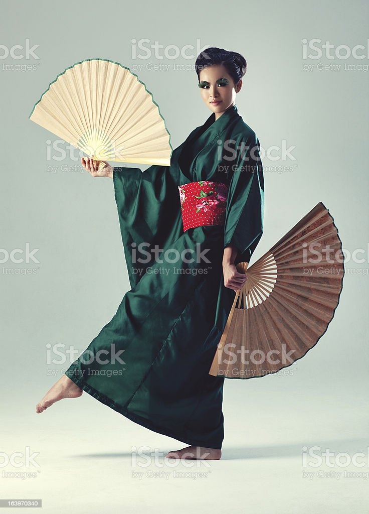 Young japanese woman royalty-free stock photo
