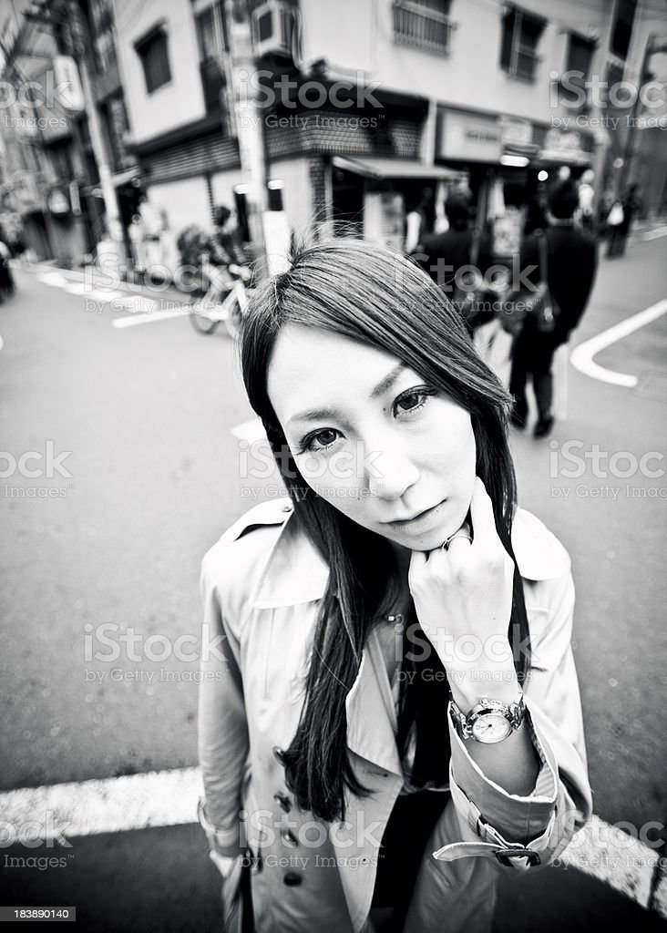 young japanese woman stock photo