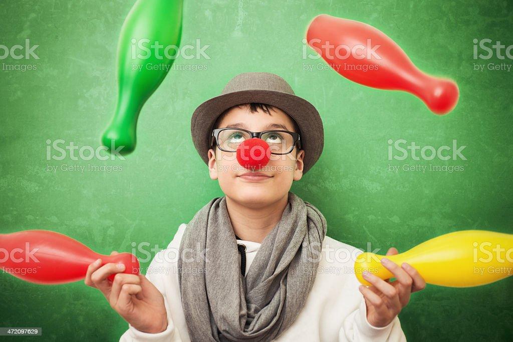 Young juggler stock photo