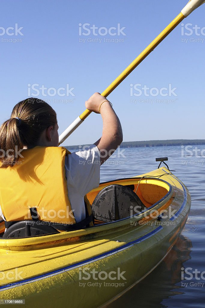 Young Kayaker stock photo