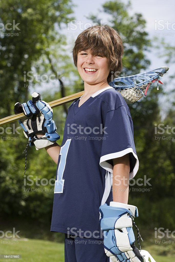 Young Lacrosse player royalty-free stock photo