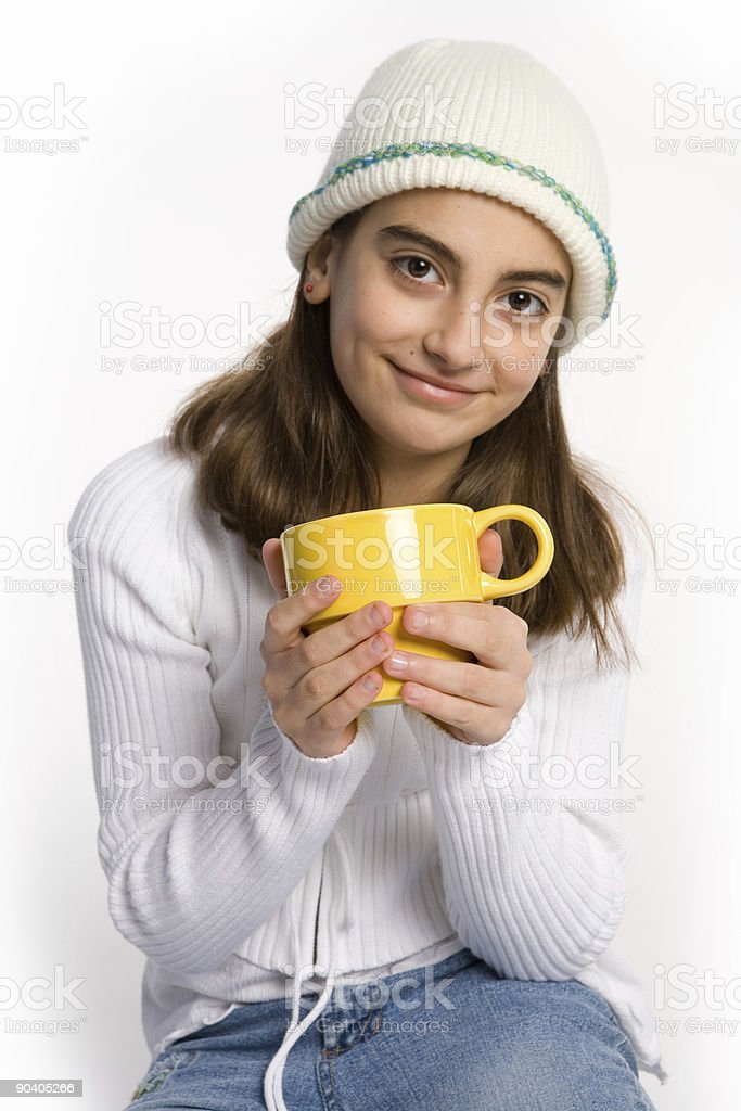 Young lady drinking royalty-free stock photo