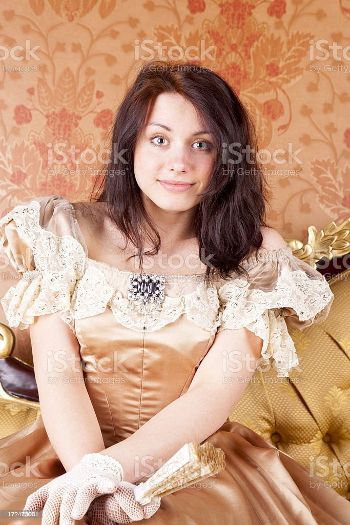 Young Lady In A Victorian Dress royalty-free stock photo