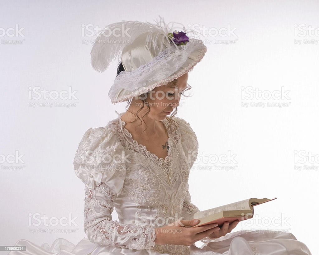 Young lady reading royalty-free stock photo
