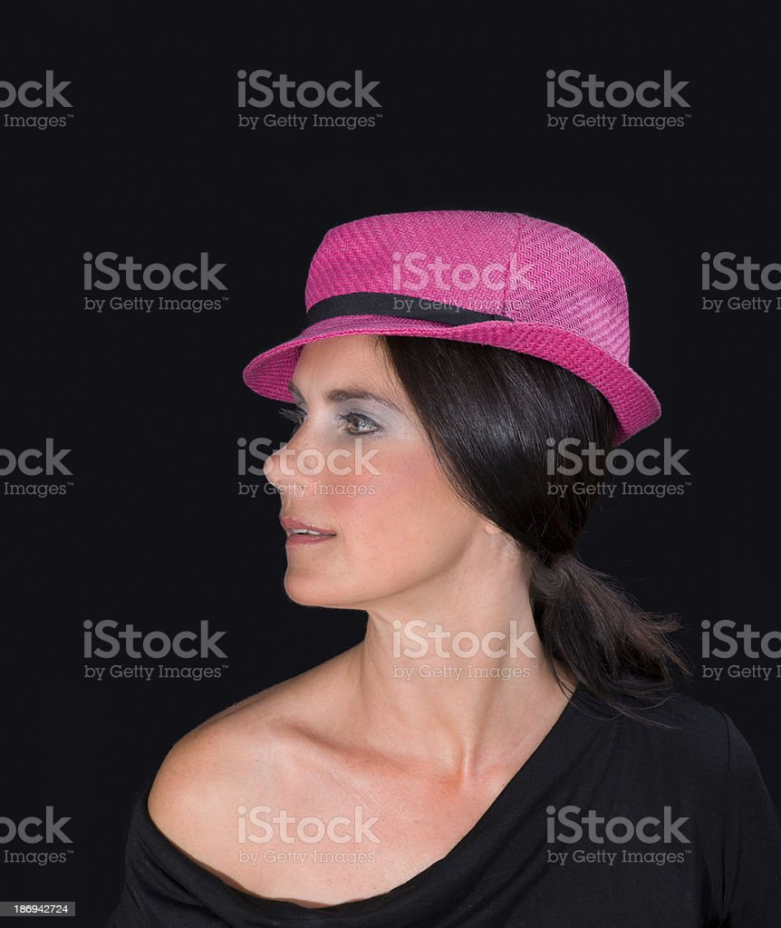 Young lady with hat royalty-free stock photo