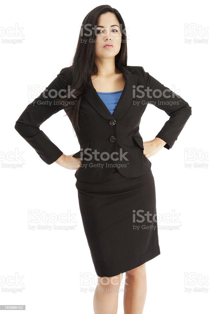 Young Latin Businesswoman on White royalty-free stock photo