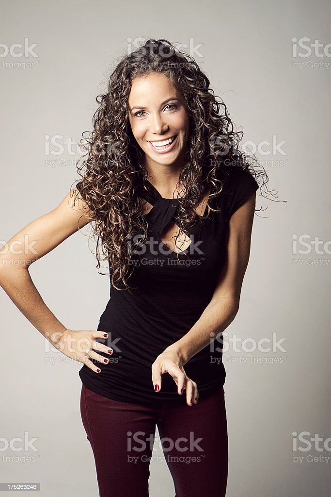 Young laughing woman royalty-free stock photo