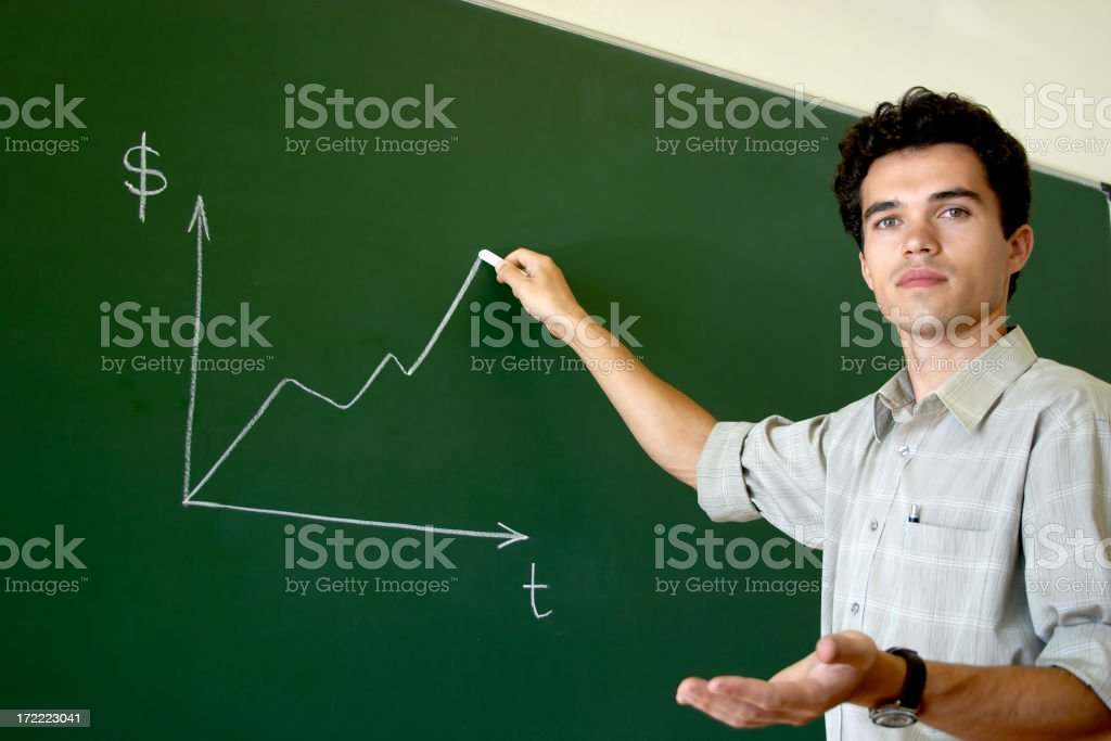 Young lecturer - 4 royalty-free stock photo