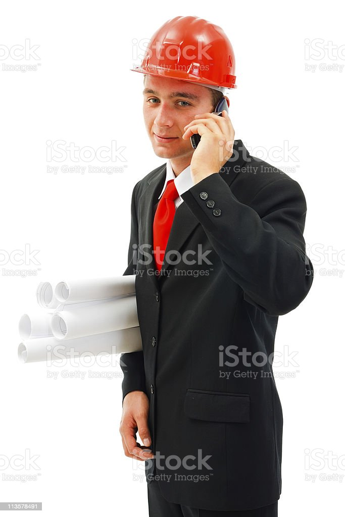 Young listening on the phone royalty-free stock photo