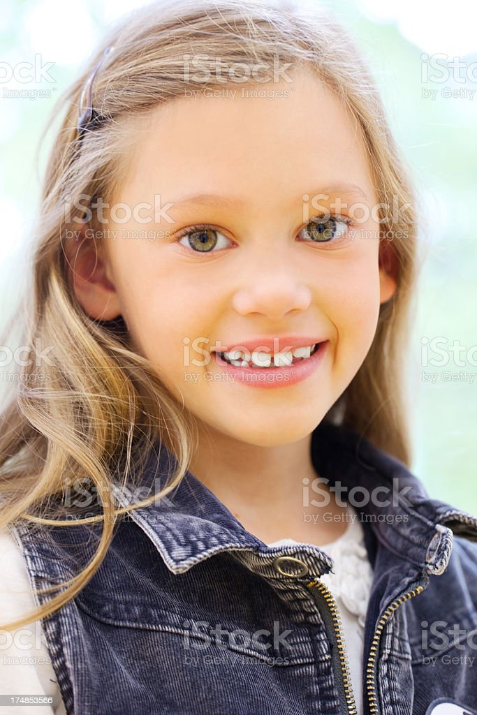 Young little girl stock photo