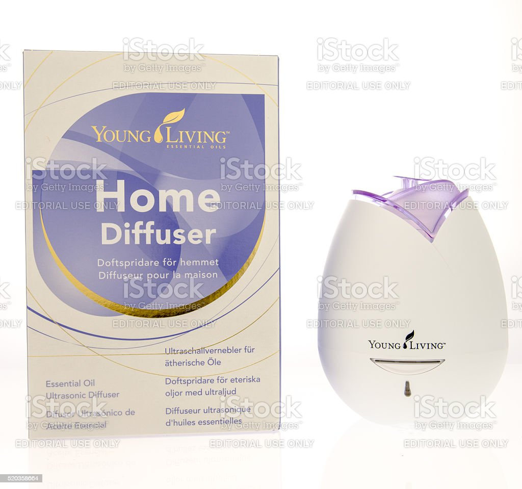 Young Living Home Diffuser stock photo