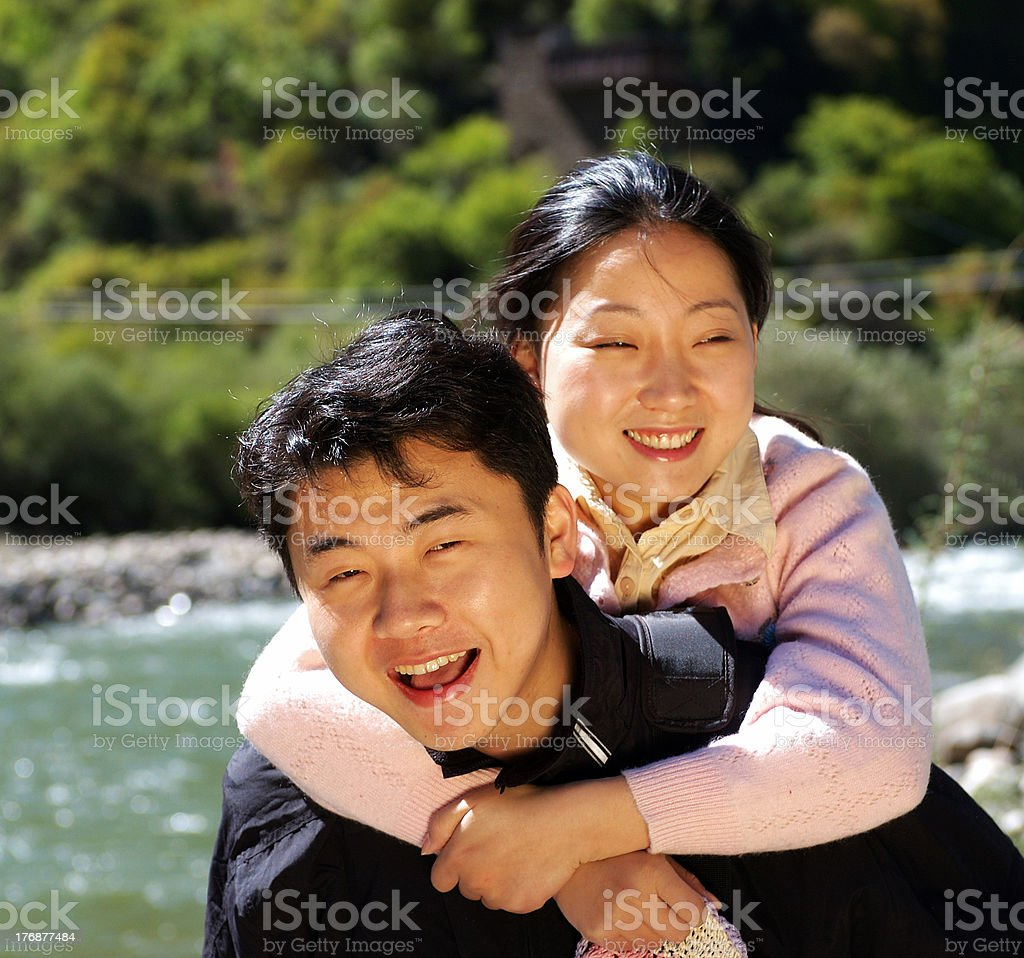 Young love couple royalty-free stock photo