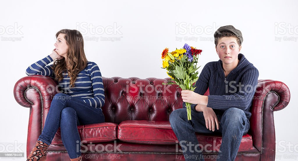 Young Love Spurned royalty-free stock photo