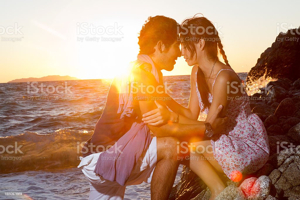 Young Lovers Embracing stock photo