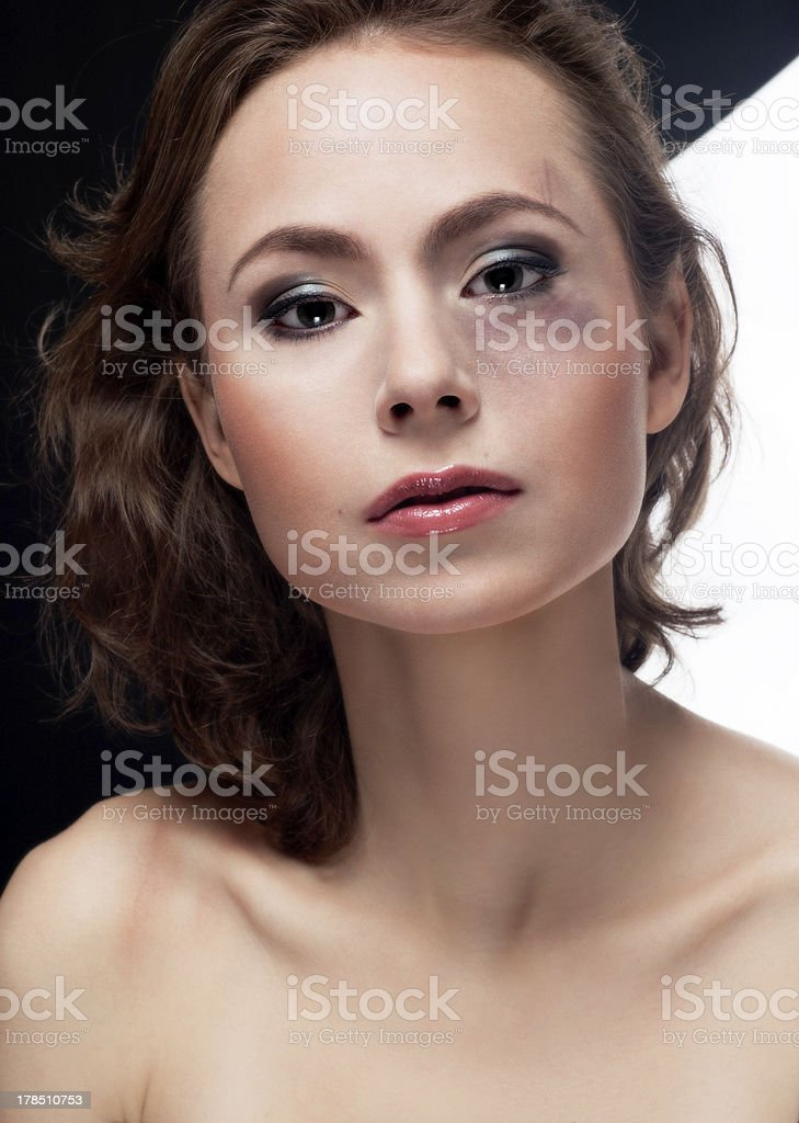 Young luxury abused women royalty-free stock photo