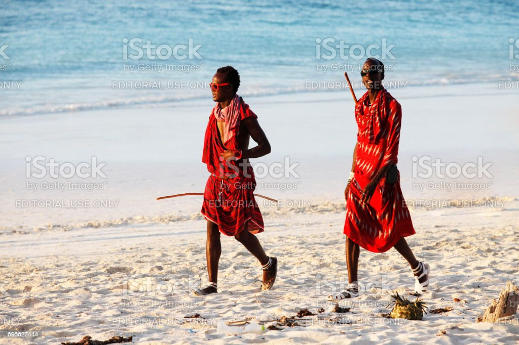 Young massai man stock photo