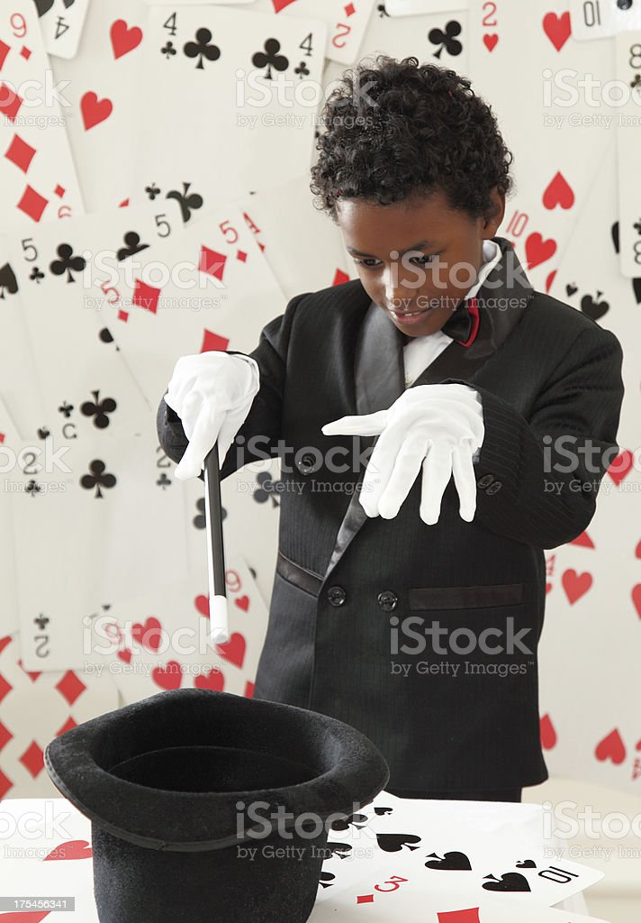 young magician royalty-free stock photo