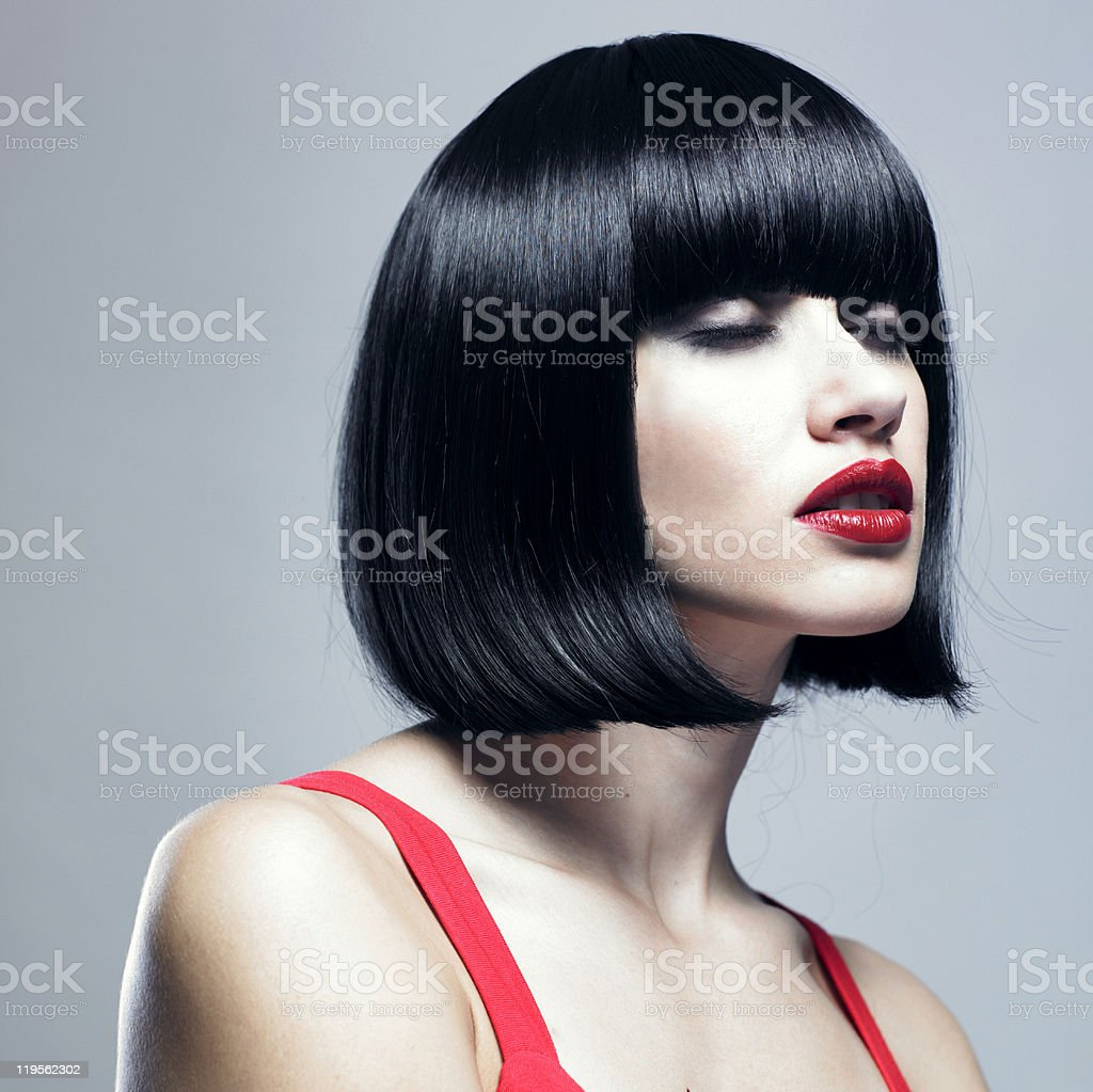 Young magnificent lady stock photo