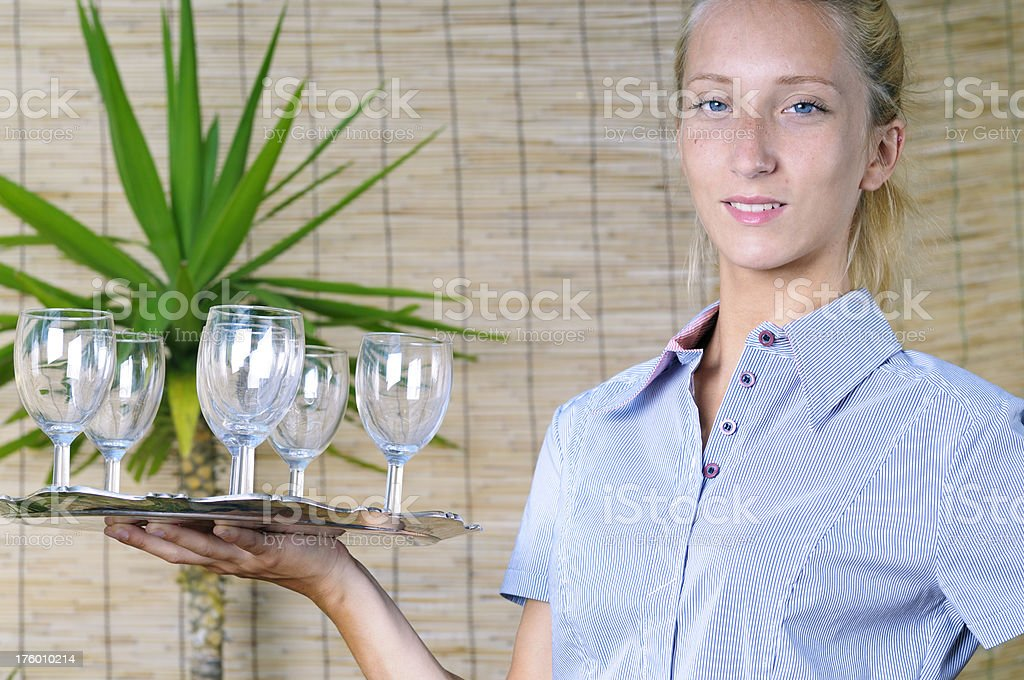 Young maid royalty-free stock photo