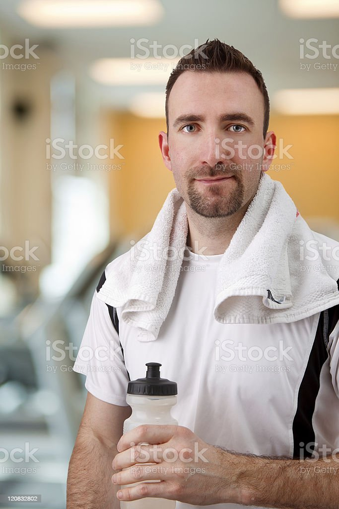 Young Male adult at Gym royalty-free stock photo