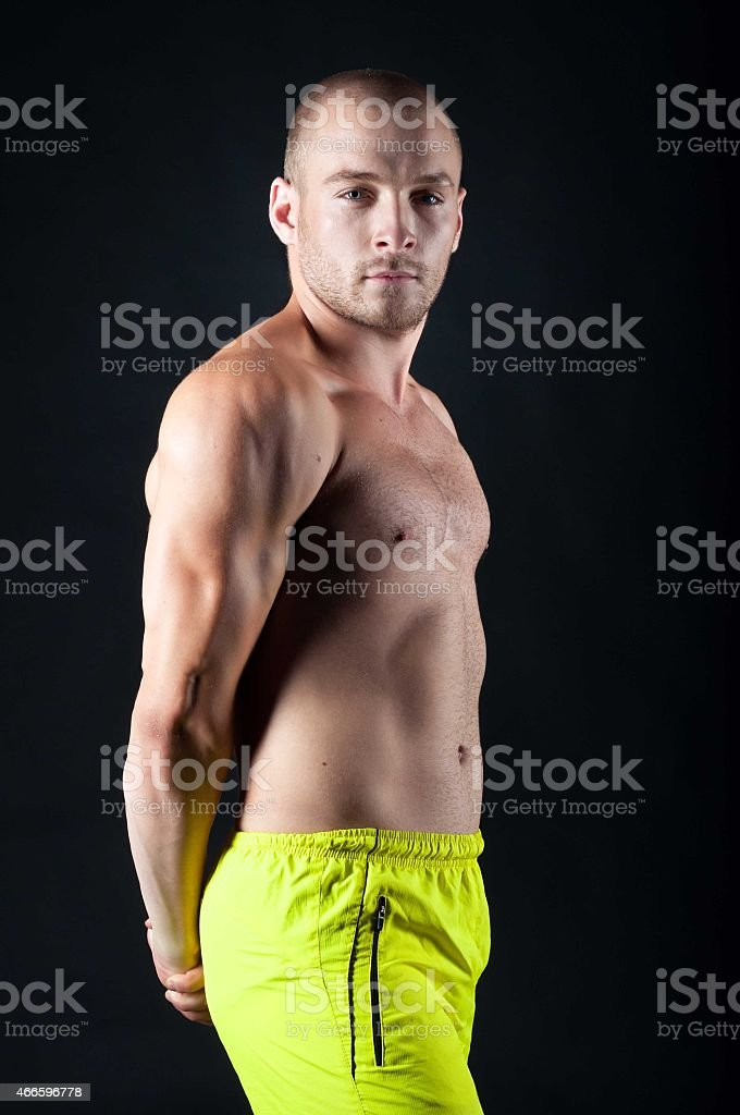 young male athlete stock photo