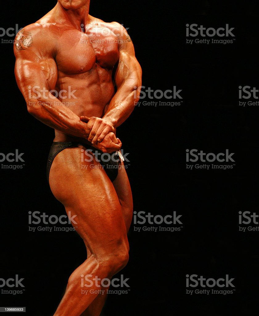 Young male body builder posing royalty-free stock photo