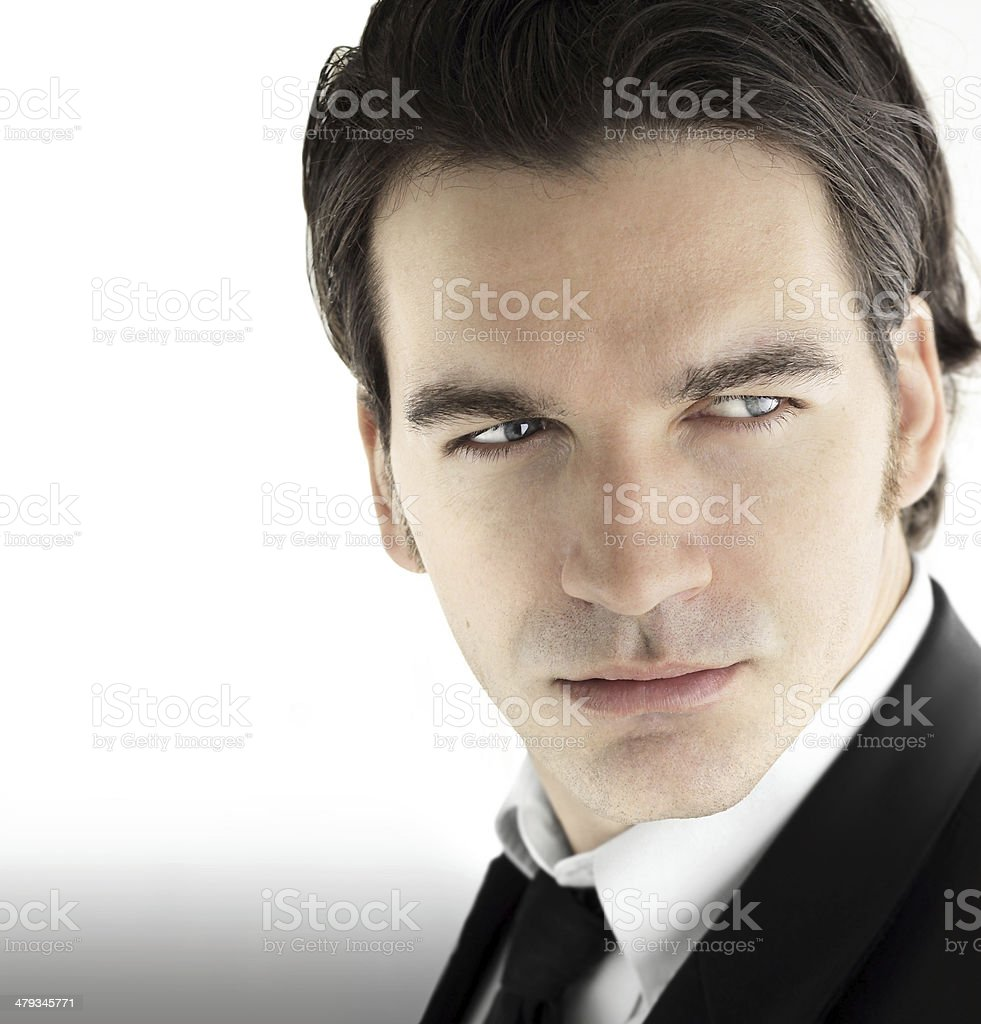 Young male businessman stock photo