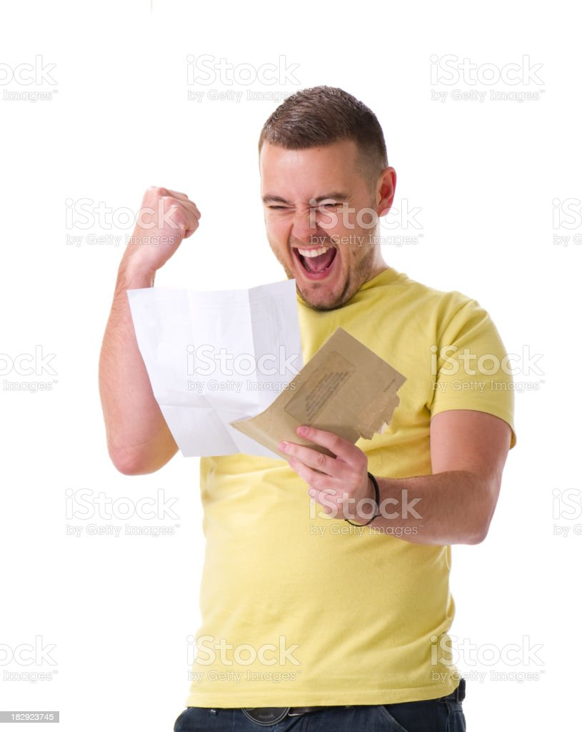 young male celebrates royalty-free stock photo