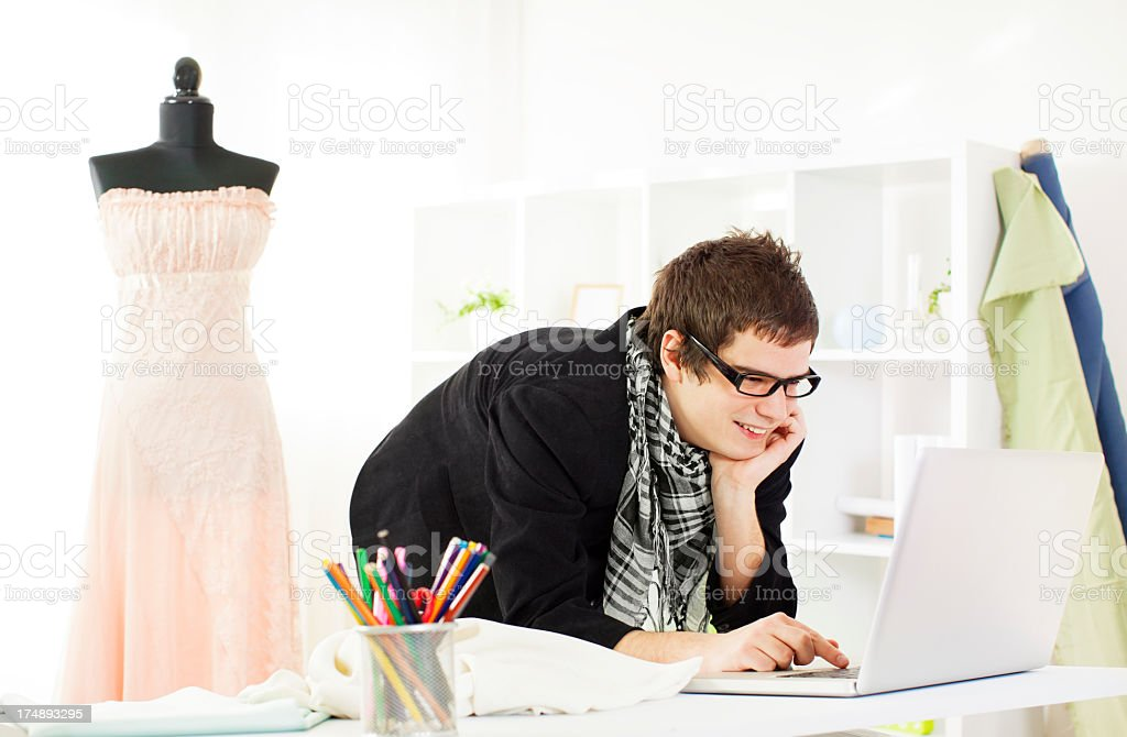 Young Male Fashion Designer. royalty-free stock photo