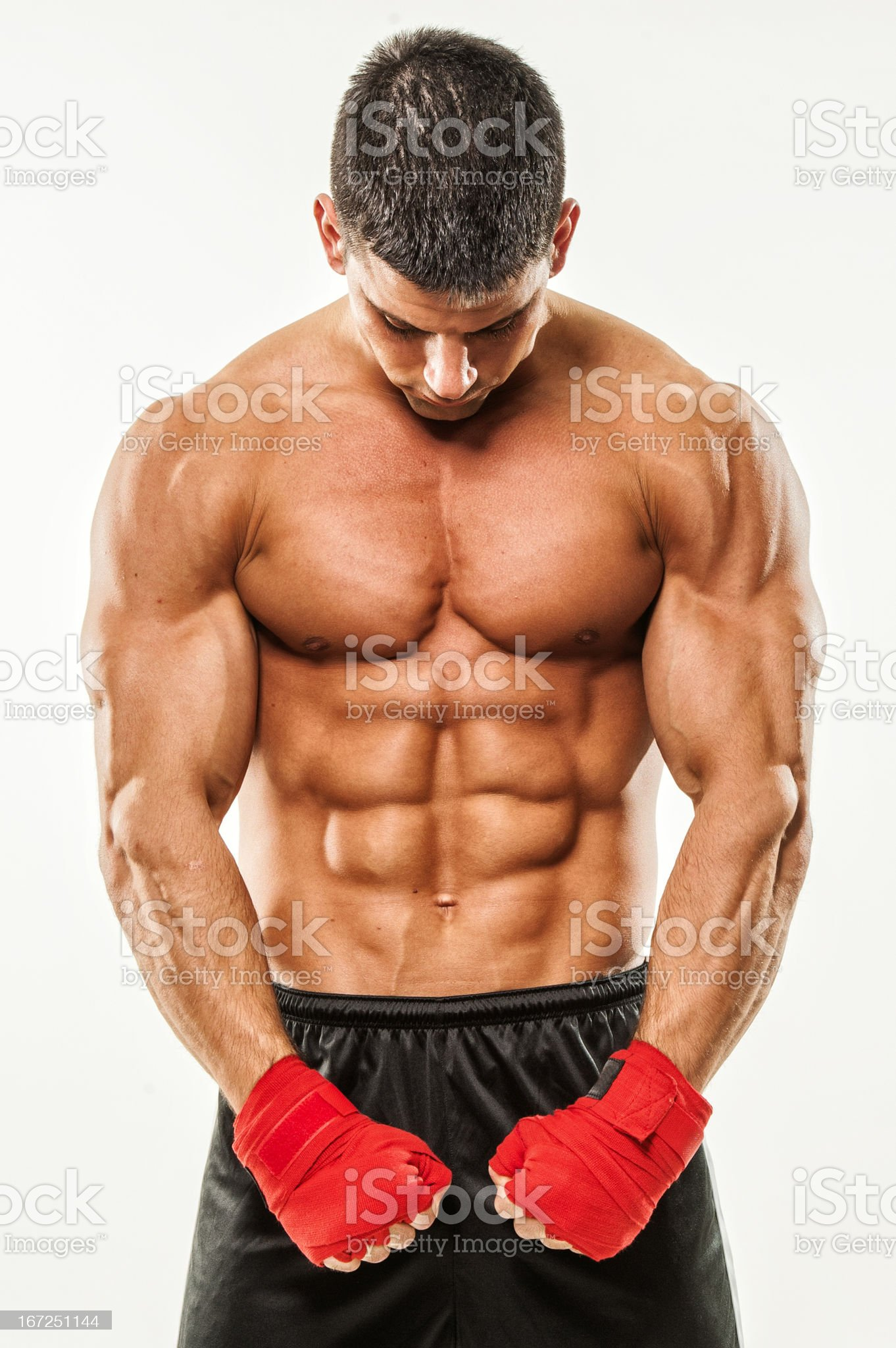 Young Male Fighter royalty-free stock photo