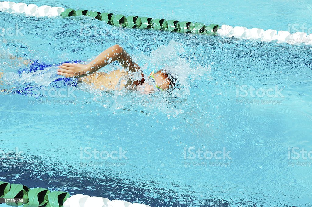 Young Male Freestyle Swimmer royalty-free stock photo