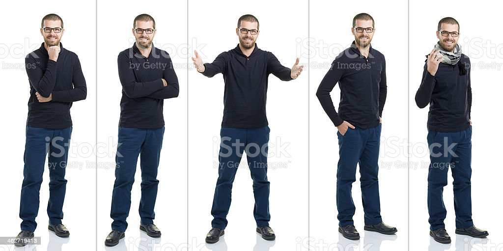 Young Male Full Length Multiple Image royalty-free stock photo