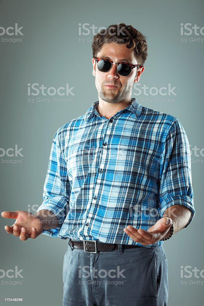 Young male gesturing royalty-free stock photo