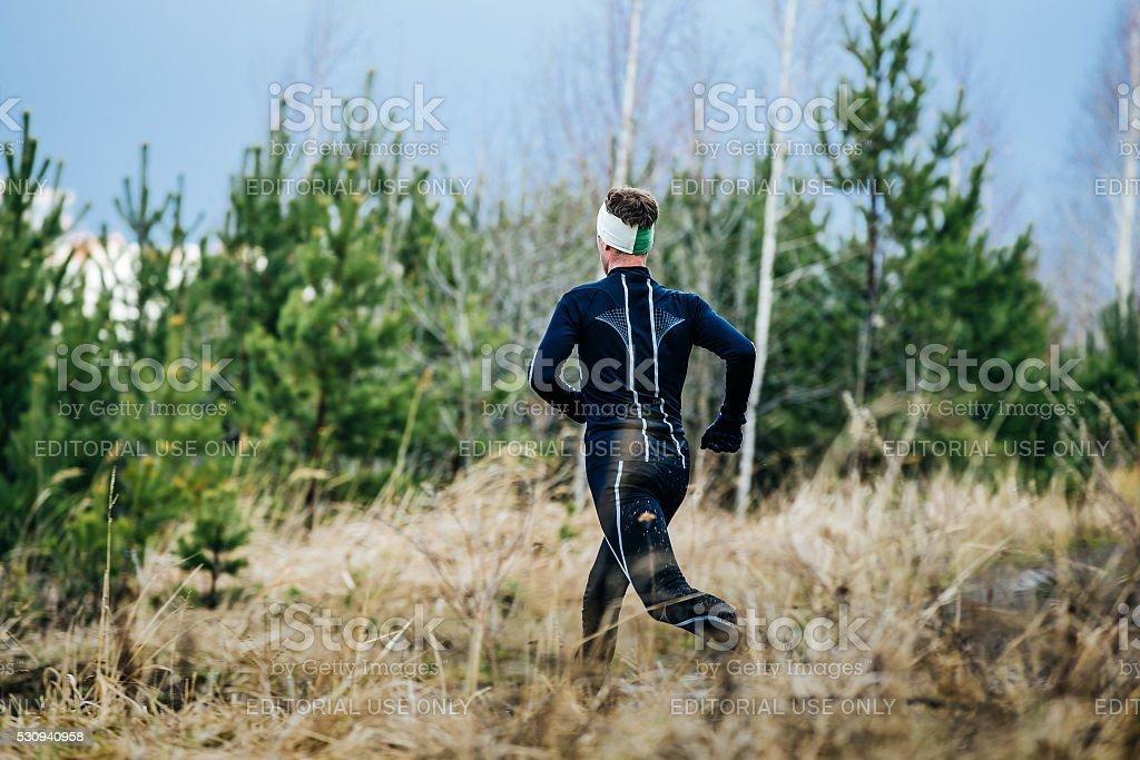 젊은 숫나사 마라톤 선수 royalty-free 스톡 사진