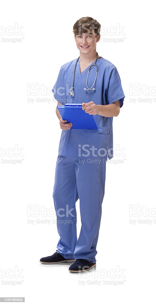 young male medical nurse royalty-free stock photo