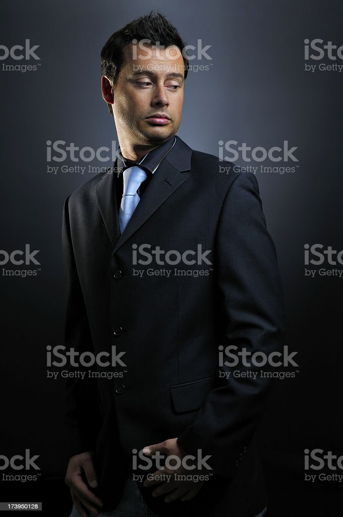 Young male model in studio royalty-free stock photo